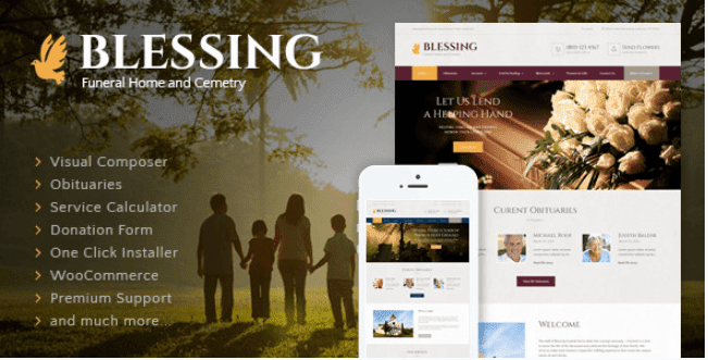 Blessing v3.2 | A Funeral Home Responsive WordPress Theme