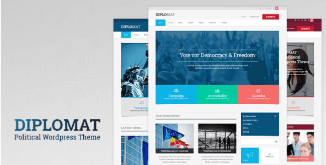 Diplomat v1.2 | Political Campaign, Party, Blog Responsive WordPress Theme